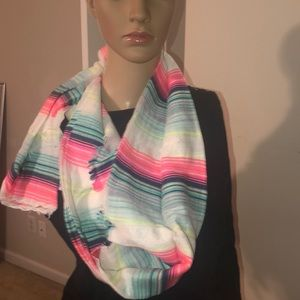 multiple colored scarf